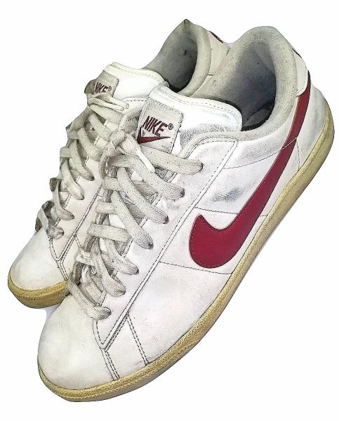 mens vintage nike trainers white tennis court shoes size uk 9