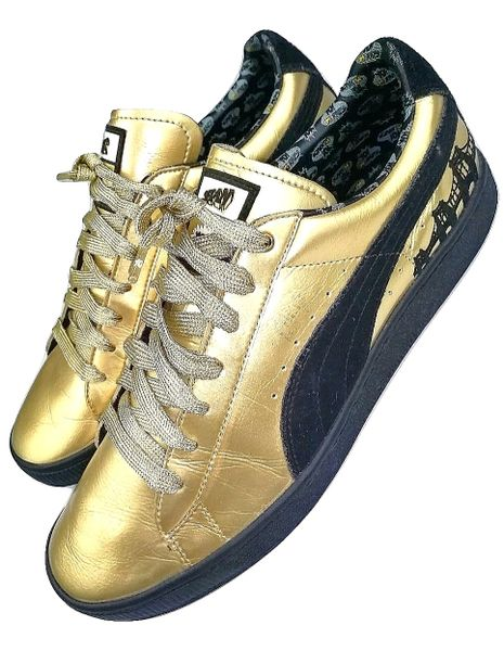 mens limited editions gold puma yo raps issued 2006 size uk 10