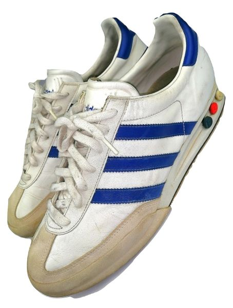 2000 true vintage leather adidas kegler sneakers UK 11.5