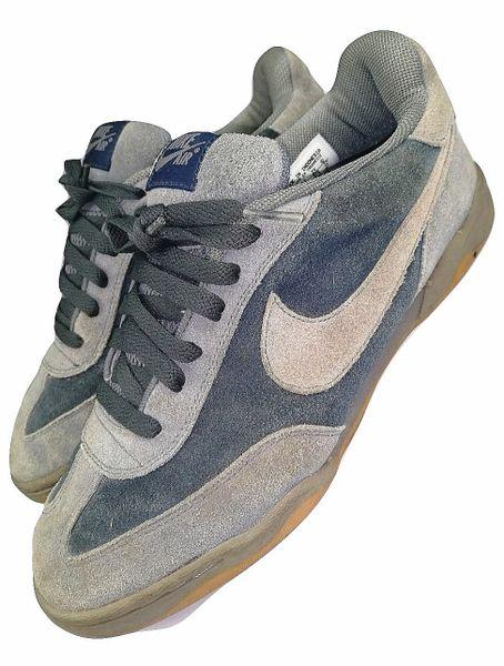 true vintage nike sneakers rare grey suede size uk 8 2004