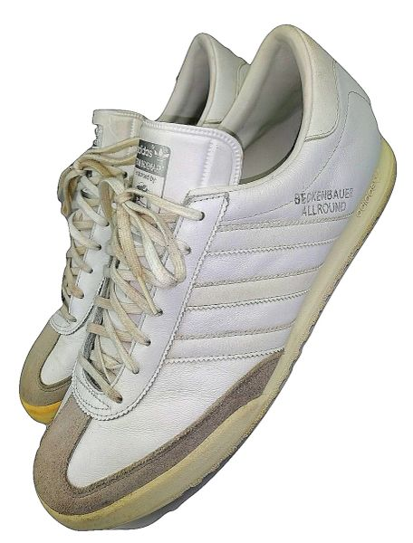 2008 true vintage adidas beckenbauer trainers size uk 12