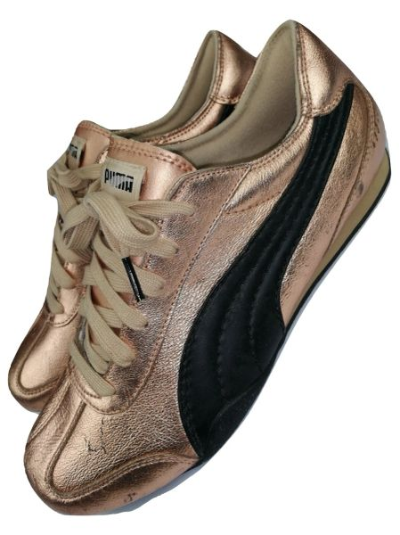 2007 true vintage puma sneakers gold uk 9.5
