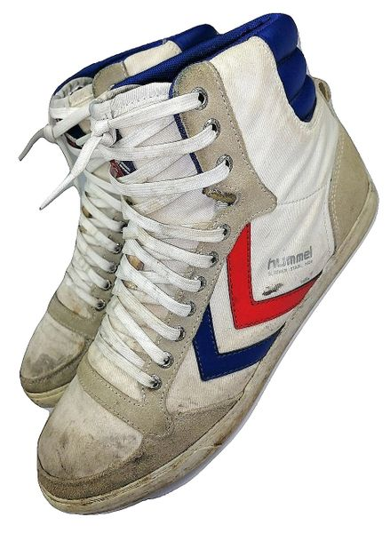 oldskool hummel hightop retro boots size uk 8 issued 2011
