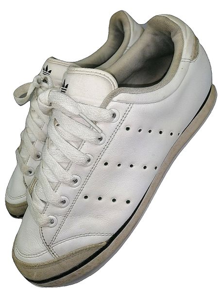 true vintage leather adidas tennis sneakers size uk 8