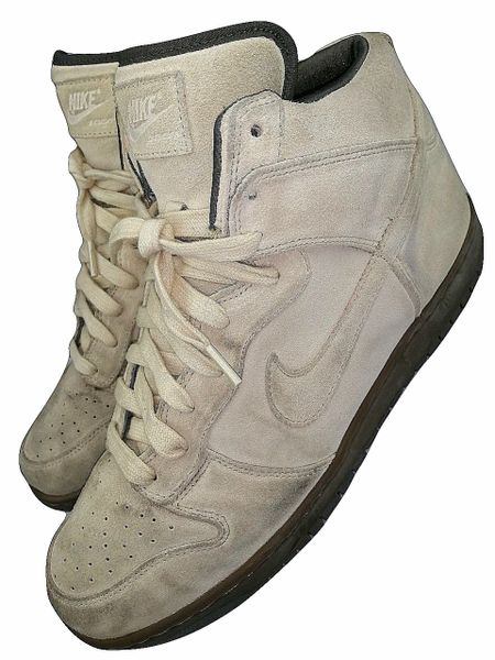 rare vintage nike dunks suede hightop trainers size uk 10.