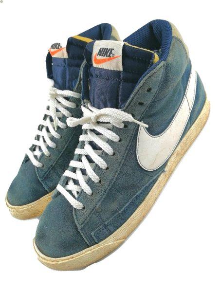 oldskool retro nike blazer blue suede size 6