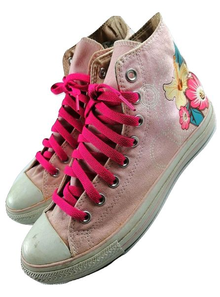 womens limited edition converse hightops, issued 2008 size 8