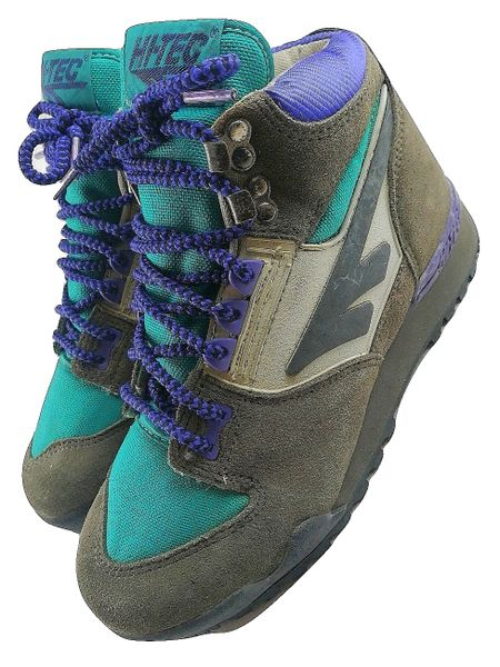 80's original vintage hi-tec trekker boots UK 6