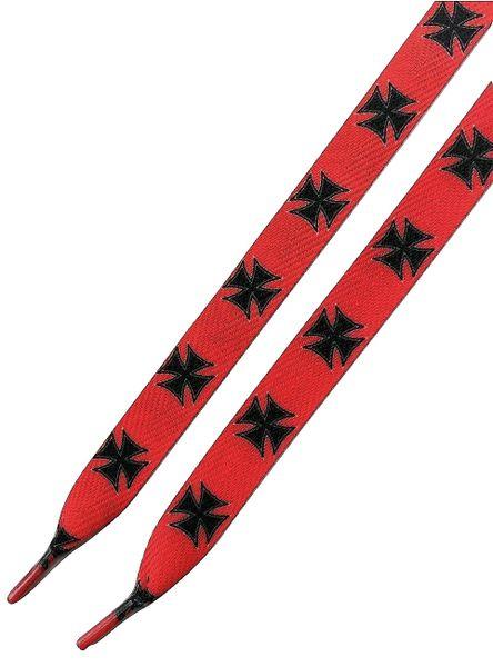 Fat 110cm Oldskool retro Red cross customized sneaker laces