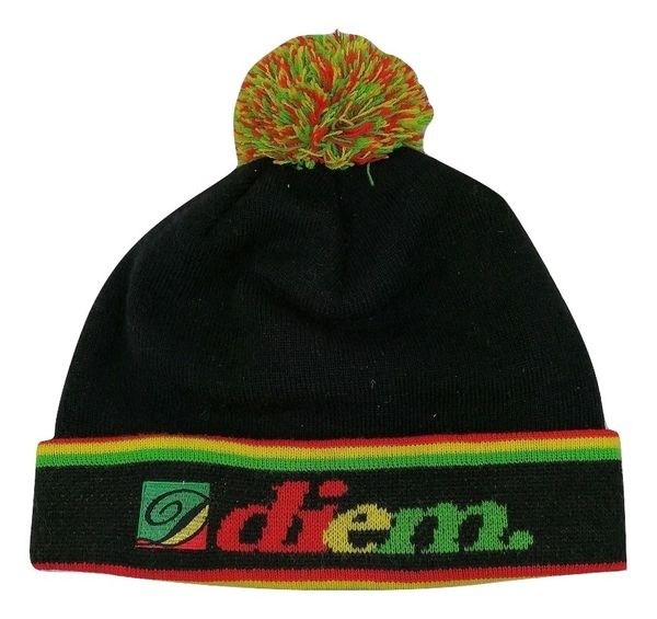 True vintage diem rasta bobble hat