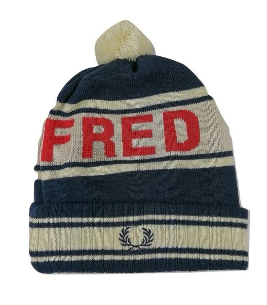True vintage fred perry logo beanie