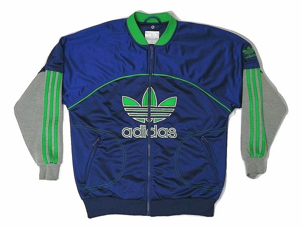 1990's true vintage adidas tracksuit top size medium