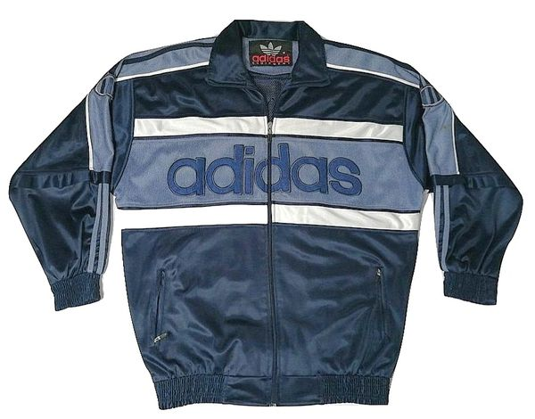 true oldskool vintage adidas tracksuit top size L