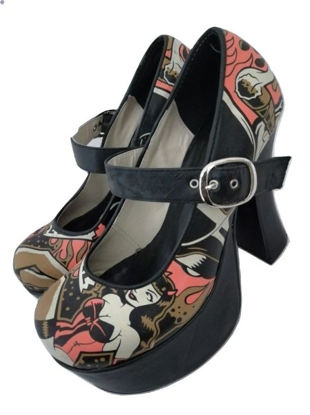 Northern soul true vintage women's platform shoes UK 6