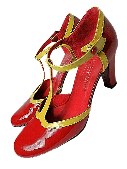 1950's style vintage high heels shoes
