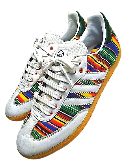 Customised adidas unique mens vintage trainers UK 9