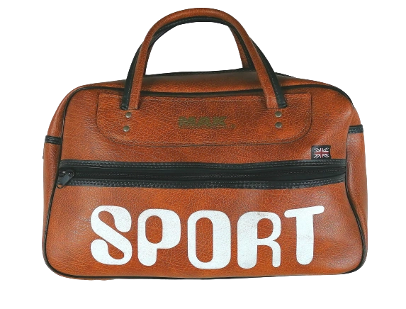 1970's original sports holdall brown