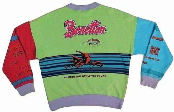 1980's true vintage Benetton sweatshirt UK M