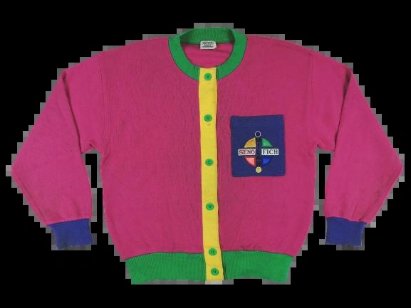 80's truly retro women's cardigan UK L