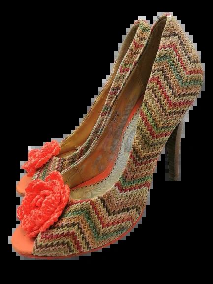Size 5 Truly retro tweed womens heels