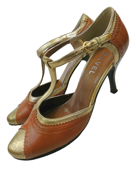 Vintage women's high heel T-bar shoes UK 4