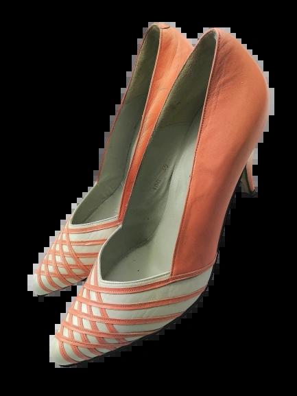Women's high heel shoes pink true vintage UK 7