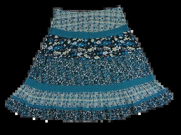 SALE Vintage flower skirt flare