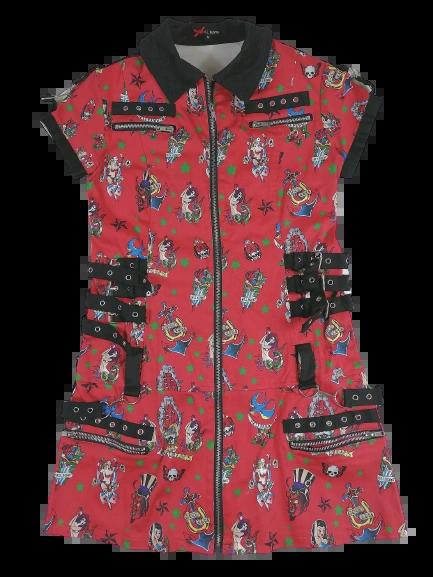 True vintage rock chick dress