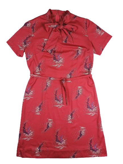 1970's Northern soul vintage dress pussy bow