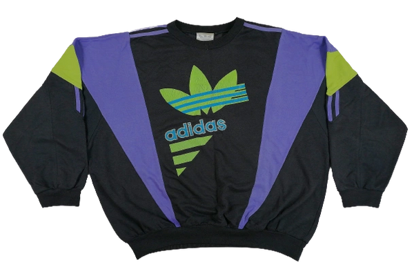 1980's adidas spellout vintage sweater
