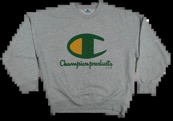 UK XL champion sweatshirt spellout 90's