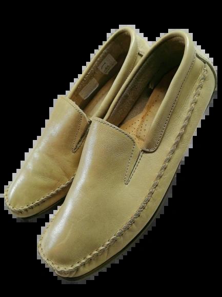 Mens leather vintage loafers UK 8