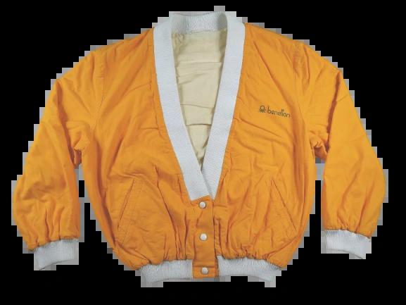 80's benetton bomber jacket UK large