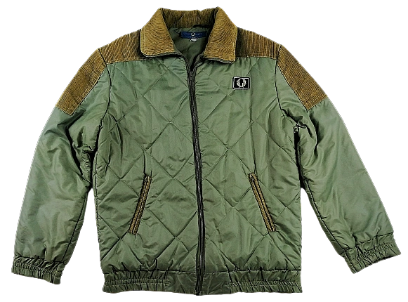 original vintage mens fred perry puffa jacket size M-L