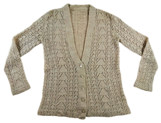 Womens Vintage hand knitted cardigan UK 10
