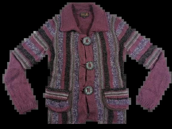 1990's retro chunky knit cardigan women's UK M