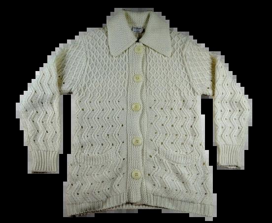UK S vintage cream wool cardigan
