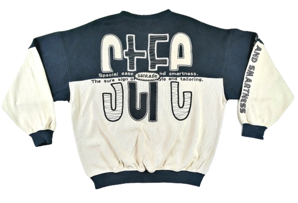 True vintage spell out jumper UK L-XL