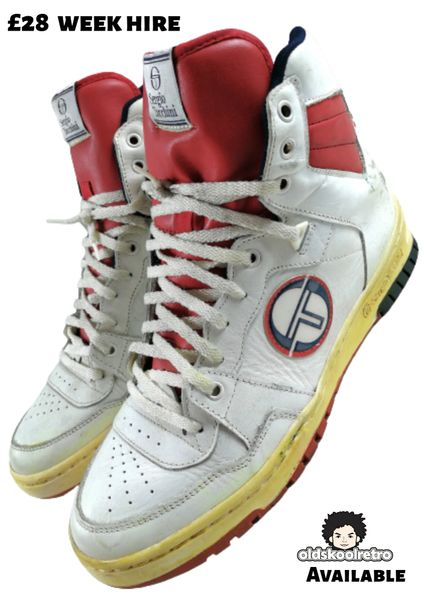 1980 true vintage Sergio tacchini assist hightops UK 11
