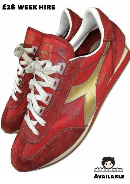 2002 true vintage signed diadora rally sneakers UK 9.5