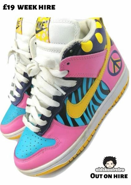 2009 limited edition nike peace hightops size 4