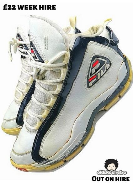1996 true vintage fila tupac grant hill sneakers UK 9.5