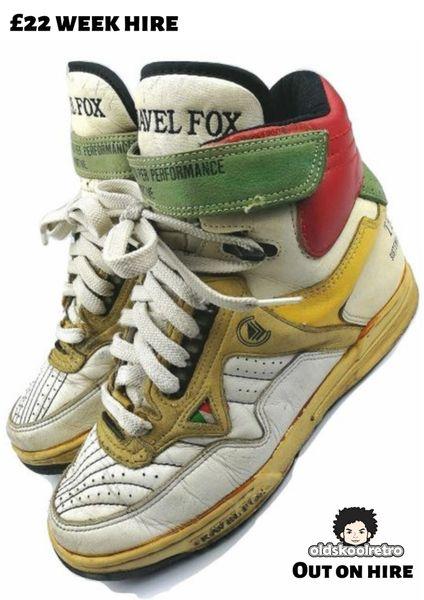 1993 true vintage travel fox leather hightops size UK 6.5