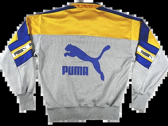 UK L oldskool puma spellout jumper 1998