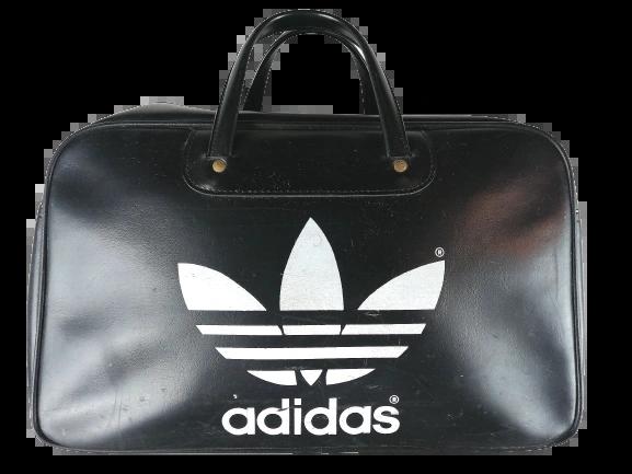 1980's roger black true vintage black adidas holdall