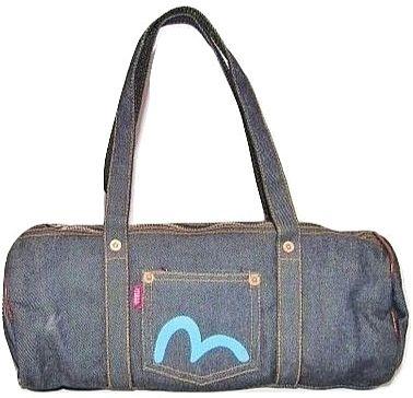 2007 small evisu denim vintage handbag