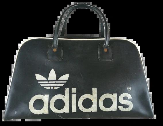 1980's true vintage black adidas holdall