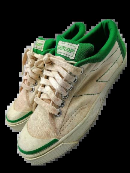 1984 true vintage dunlop green flash trainers UK 6