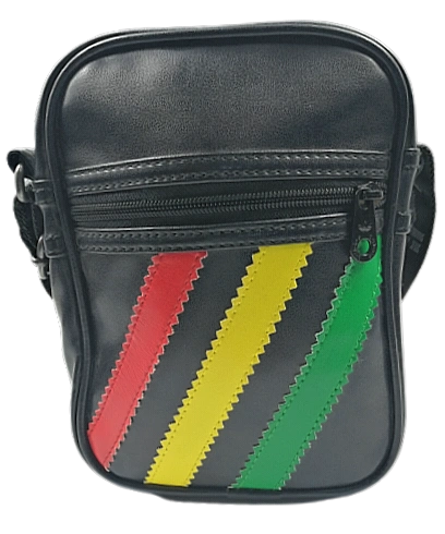 09' vintage rasta adidas leather pouch bag