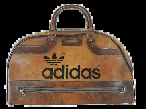 1988 true vintage adidas holdall brown